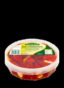 Feferony červené plněné sýrem, 1kg