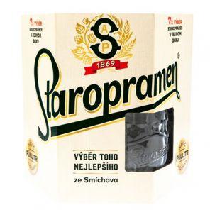 Staropramne Multipack + sklo, multipack 7x0,5l