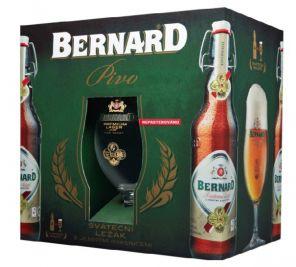 Bernard 12° + 2x sklo, multipack 4x0,5l