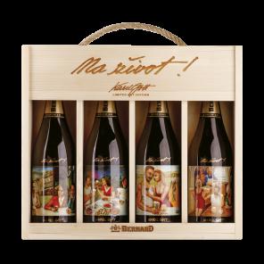 Bernard 16° Bohemian Ale Karel Gott dárkové balení, multipack 4x0,75l