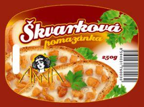 Škvarková pomazánka Klasik, 250g