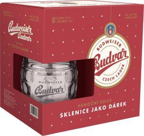 Budweiser Budvar B:Original 12° + krýgl, lahev 8x0,5l