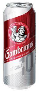 Gambrinus Originál 10, plech 0,5l