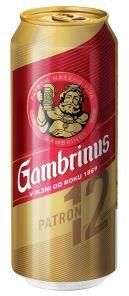 Gambrinus Patron 12, plech 0,5l